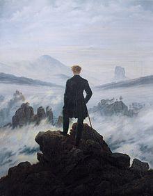 friedrich le voyageur contempolant une mer de nuages 1818